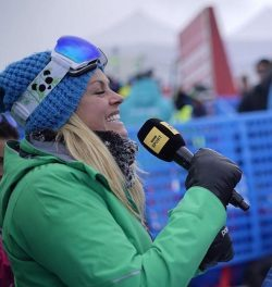 chemmy alcott presenting for the bbc