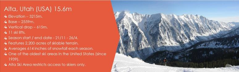 alta snowiest ski resorts