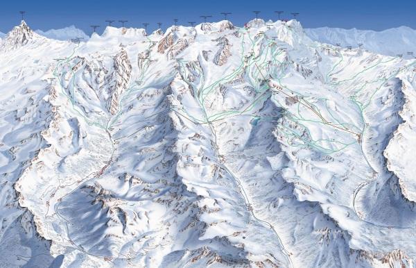 Heliski routes in Monterosa Ski Paradise
