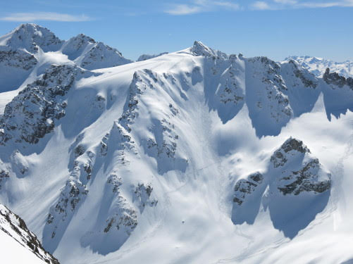 Heliskiing in the Caucasus Mountains in Georgia